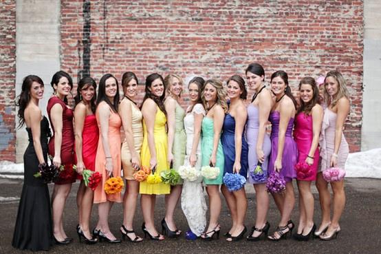 """""""おそろい""""はもう流行遅れ?ミスマッチなブライズメイドドレスで自分らしく輝く1日に で紹介している画像"""