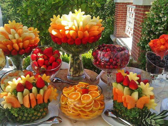 アメリカ発祥☆DIYもおすすめ、フレッシュなフルーツブーケでゲストをおもてなし。 で紹介している画像