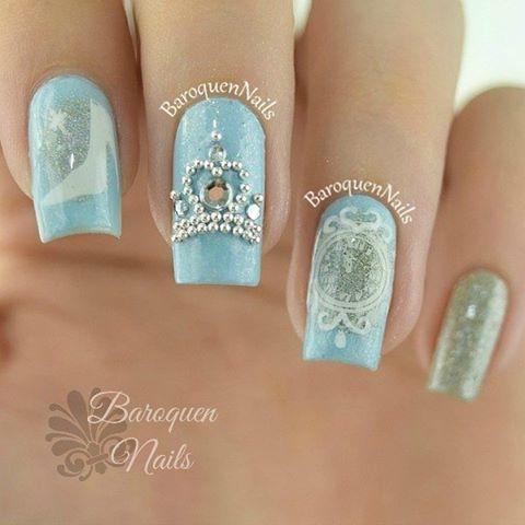 オトナ花嫁のためのオシャレなディズニーネイルコレクション で紹介している画像