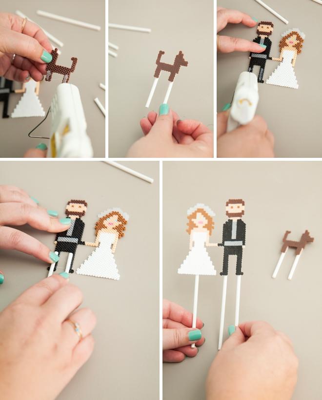 世界に一つだけのオリジナル♡アイロンビーズで簡単DIYケーキトッパー で紹介している画像