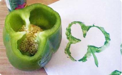 """野菜を切って押すだけ。あっという間にかわいく変身""""ベジタブル・スタンプ"""" で紹介している画像"""