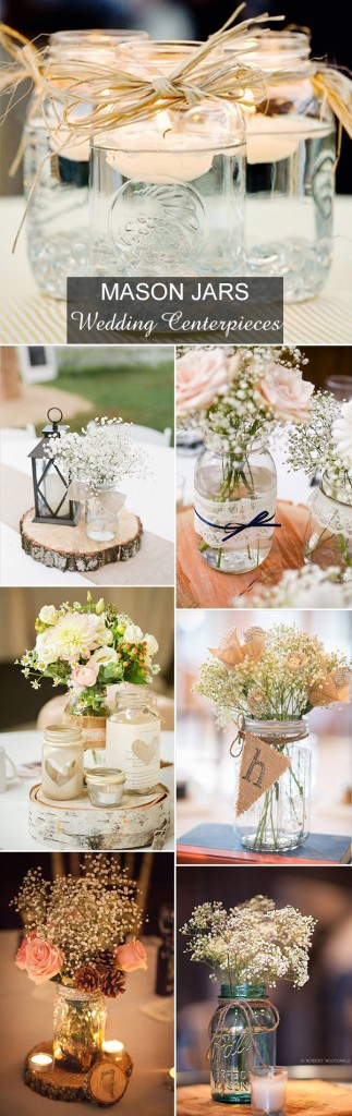 簡単お手軽オシャレ♡メイソン・ジャーを使った結婚式のアイディア で紹介している画像