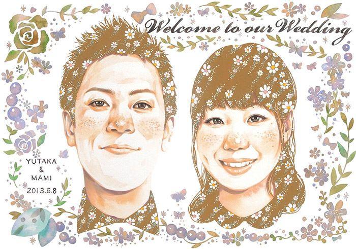 世界にひとつだけ♡そっくりな似顔絵ウェルカムボードでLOVEアピール♡ で紹介している画像
