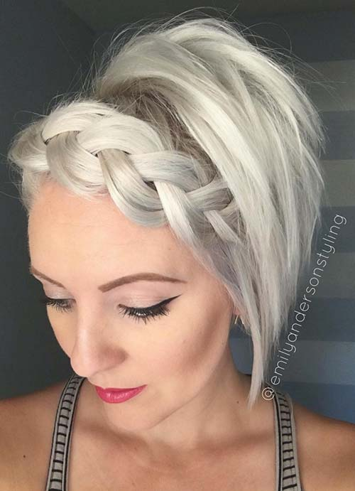 ショートヘアの方もう悩まないで大丈夫!結婚式お呼ばれに、編み込みアレンジ髪型特集 で紹介している画像